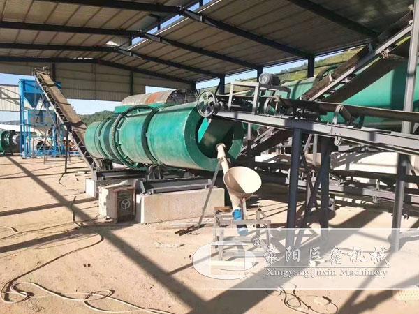 云南年产5万吨生物有机肥生产线安装现场